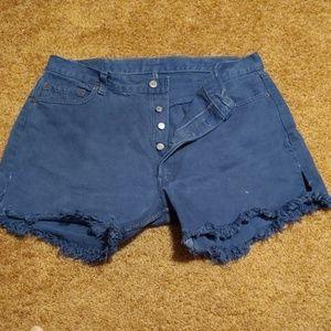 Levis cut off shorts size 38